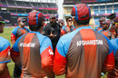 Inzamam-ul-Haq has a chat with the Afghanistan players, Nagpur, March 27, 2016