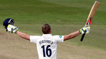 Scott Borthwick made his 13th first-class hundred