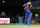 Rohit Sharma plays powerfully towards long-off, Mumbai Indians v Delhi Daredevils, IPL 2016, Visakhapatnam, May 15, 2016