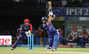 Martin Guptill carves one over the off side, Mumbai Indians v Delhi Daredevils, IPL 2016, Visakhapatnam, May 15, 2016