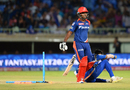 Sanju Samson wears a dejected look after falling short, Mumbai Indians v Delhi Daredevils, IPL 2016, Visakhapatnam, May 15, 2016