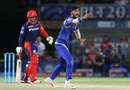 Krunal Pandya appeals for the wicket of Quinton de Kock, Mumbai Indians v Delhi Daredevils, IPL 2016, Visakhapatnam, May 15, 2016