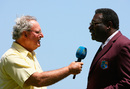 Tony Cozier interviews match referee Clive Lloyd, West Indies v England, World Cup, Bridgetown, Barbados,  April 21, 2007