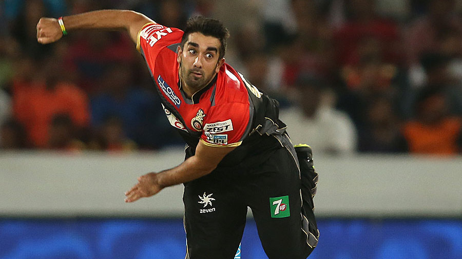 Tabraiz Shamsi bowls for Royal Challengers Bangalore