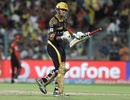 Gautam Gambhir was animated as ever on reaching his half-century, Kolkata Knight Riders v Royal Challengers Bangalore, IPL 2016, Kolkata, May 16, 2016