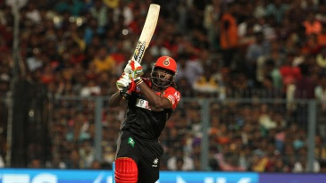 Chris Gayle launches one over long-on