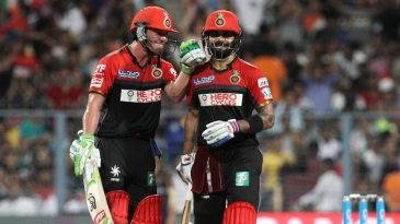 AB de Villiers and Virat Kohli added 115 unbeaten runs for the second wicket