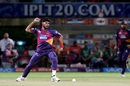 Ashok Dinda is fired up after picking up an early wicket, Rising Pune Supergiants v Delhi Daredevils, IPL 2016, Visakhapatnam, May 17, 2016