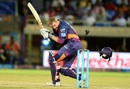 George Bailey loses his helmet after being struck by the ball, Rising Pune Supergiants v Delhi Daredevils, IPL 2016, Visakhapatnam, May 17, 2016