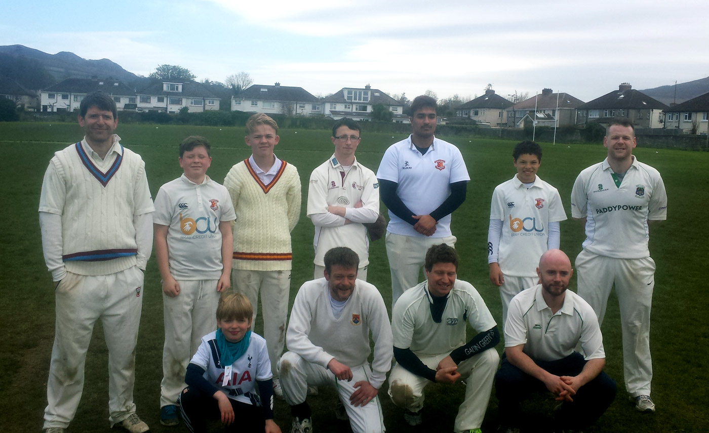 Two generations of Joyces from Presentation College. Back row, from left: Damian and Macdara, son of Johnny; Dom is at far right. Front row, from left: Sam, son of Damian, and Johnny