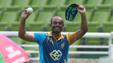 Mohammad Sharif acknowledges his hat-trick