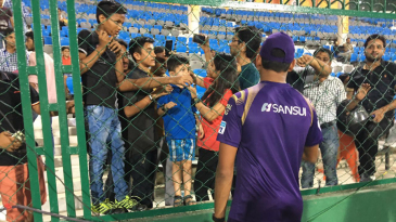 Ankit Rajpoot poses for selfies with excited fans