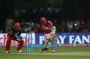 Wriddhiman Saha slogs powerfully to the leg side, Royal Challengers Bangalore v Kings XI Punjab, IPL 2016, Bangalore, May 18, 2016