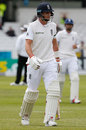 Joe Root departs for a seven-ball duck, England v Sri Lanka, 1st Test, Headingley, 1st day, May 19, 2016