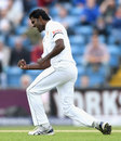 Shaminda Eranga celebrates the wicket of James Vince, England v Sri Lanka, 1st Test, Headingley, 1st day, May 19, 2016