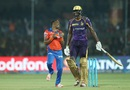 Dwayne Bravo indulges in some fun as he performs the champion dance after dismissing Jason Holder, Gujarat Lions v Kolkata Knight Riders, IPL 2016, Kanpur, May 19, 2016
