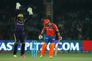 Robin Uthappa appeals for the wicket of Brendon McCullum, Gujarat Lions v Kolkata Knight Riders, IPL 2016, Kanpur, May 19, 2016