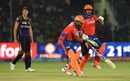 Suresh Raina and Aaron Finch collide while taking a run, Gujarat Lions v Kolkata Knight Riders, IPL 2016, Kanpur, May 19, 2016