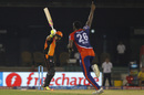 Yuvraj Singh plays onto his stumps off Carlos Brathwaite, Delhi Daredevils v Sunrisers Hyderabad, IPL 2016, Raipur, May 20, 2016