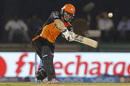 Eoin Morgan takes the aerial route towards long-on, Delhi Daredevils v Sunrisers Hyderabad, IPL 2016, Raipur, May 20, 2016