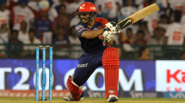 Karun Nair cuts through point