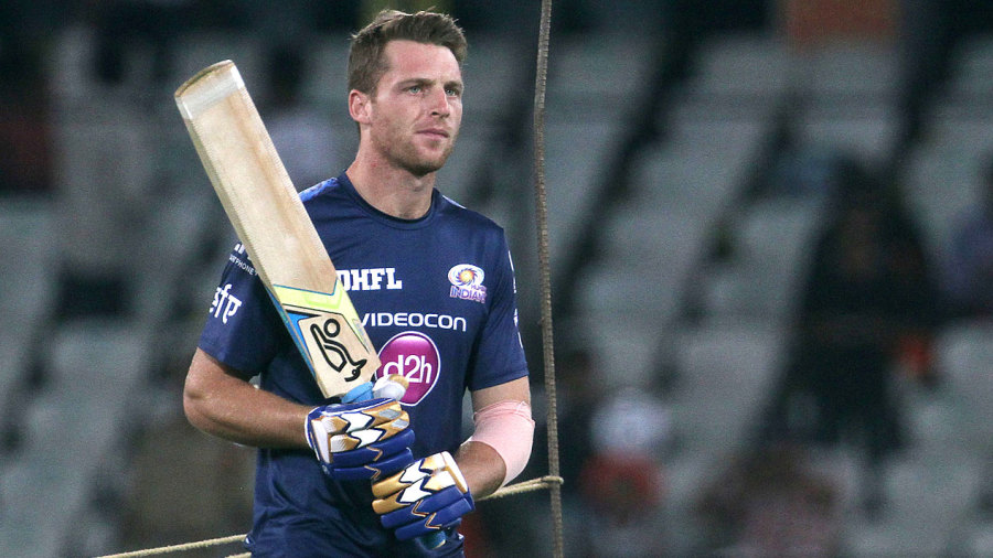 Mumbai Indians' Jos Buttler at the nets ahead of the game against Sunrisers Hyderabad