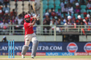 Hashim Amla drives down the ground, Rising Pune Supergiants v Kings XI Punjab, IPL 2016, Visakhapatnam, May 21, 2016