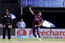 Deepak Chahar is about to bowl, Rising Pune Supergiants v Kings XI Punjab, IPL 2016, Visakhapatnam, May 21, 2016