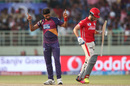 Ashok Dinda celebrates after dismissing Farhaan Behardien, Rising Pune Supergiants v Kings XI Punjab, IPL 2016, Visakhapatnam, May 21, 2016