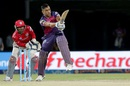 MS Dhoni whips the ball into the leg side, Rising Pune Supergiants v Kings XI Punjab, IPL 2016, Visakhapatnam, May 21, 2016