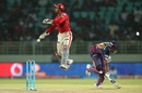 Wriddhiman Saha attempts a back flick to run Thisara Perera out, Rising Pune Supergiants v Kings XI Punjab, IPL 2016, Visakhapatnam, May 21, 2016