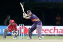MS Dhoni gets in position to tonk one over the leg side, Rising Pune Supergiants v Kings XI Punjab, IPL 2016, Visakhapatnam, May 21, 2016
