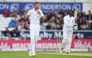 Stuart Broad claimed the key scalp of Angelo Mathews, England v Sri Lanka, 1st Test, Headingley, 3rd day, May 21, 2016