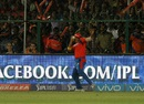 Shadab Jakati takes a catch to dismiss Rohit Sharma, Gujarat Lions v Mumbai Indians, IPL 2016, Kanpur, May 21, 2016