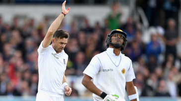 James Anderson was again too much for Dasun Shanaka to handle
