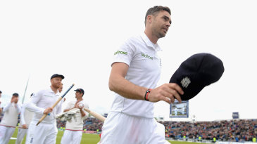 James Anderson finished with a match haul of 10 for 45