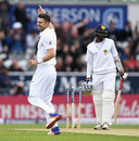 James Anderson sealed victory by bowling Nuwan Pradeep, England v Sri Lanka, 1st Test, Headingley, 3rd day, May 21, 2016