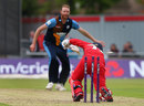 Alex Davies was bowled by Andy Carter, Lancashire v Derbyshire, NatWest T20 Blast, North Group, May 21, 2016