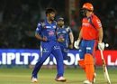 Vinay Kumar is pumped up after dismissing Aaron Finch, Gujarat Lions v Mumbai Indians, IPL 2016, Kanpur, May 21, 2016
