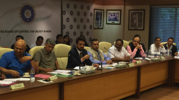Anurag Thakur at the BCCI's special general meeting where he was elected president