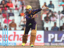 Yusuf Pathan laces one through the off side, Kolkata Knight Riders v Sunrisers Hyderabad, IPL 2016, Kolkata, May 22, 2016