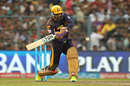 Yusuf Pathan pulls en route to his half-century, Kolkata Knight Riders v Sunrisers Hyderabad, IPL 2016, Kolkata, May 22, 2016