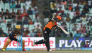 Shikhar Dhawan shimmies down to loft over long-off, Kolkata Knight Riders v Sunrisers Hyderabad, IPL 2016, Kolkata, May 22, 2016