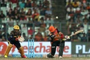 Naman Ojha tries a slog sweep, Kolkata Knight Riders v Sunrisers Hyderabad, IPL 2016, Kolkata, May 22, 2016