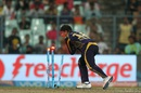 Kuldeep Yadav breaks the stumps to run Deepak Hooda out, Kolkata Knight Riders v Sunrisers Hyderabad, IPL 2016, Kolkata, May 22, 2016