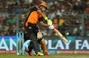 Yuvraj Singh launches one over the off side, Kolkata Knight Riders v Sunrisers Hyderabad, IPL 2016, Kolkata, May 22, 2016