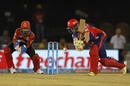 Sam Billings gets into an awkward position against spin, Delhi Daredevils v Royal Challengers Bangalore, IPL 2016, Raipur, May 22, 2016