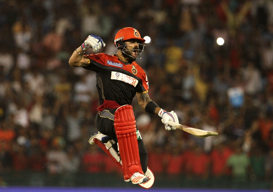 Kohli knocked off the winning run on the first ball of the 19th over. He stayed unbeaten on 54 and guided Royal Challengers to their second playoffs in two seasons