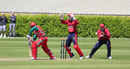 Anthony Hawkins-Kay takes the catch of Noorul Riaz at slip, Jersey v Oman, ICC World Cricket League Division Five, St Saviour, May 23, 2016