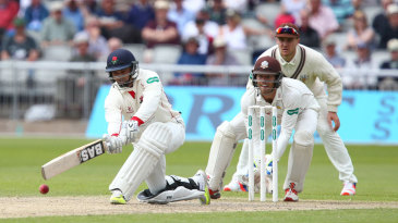 Alviro Petersen gets down low to sweep